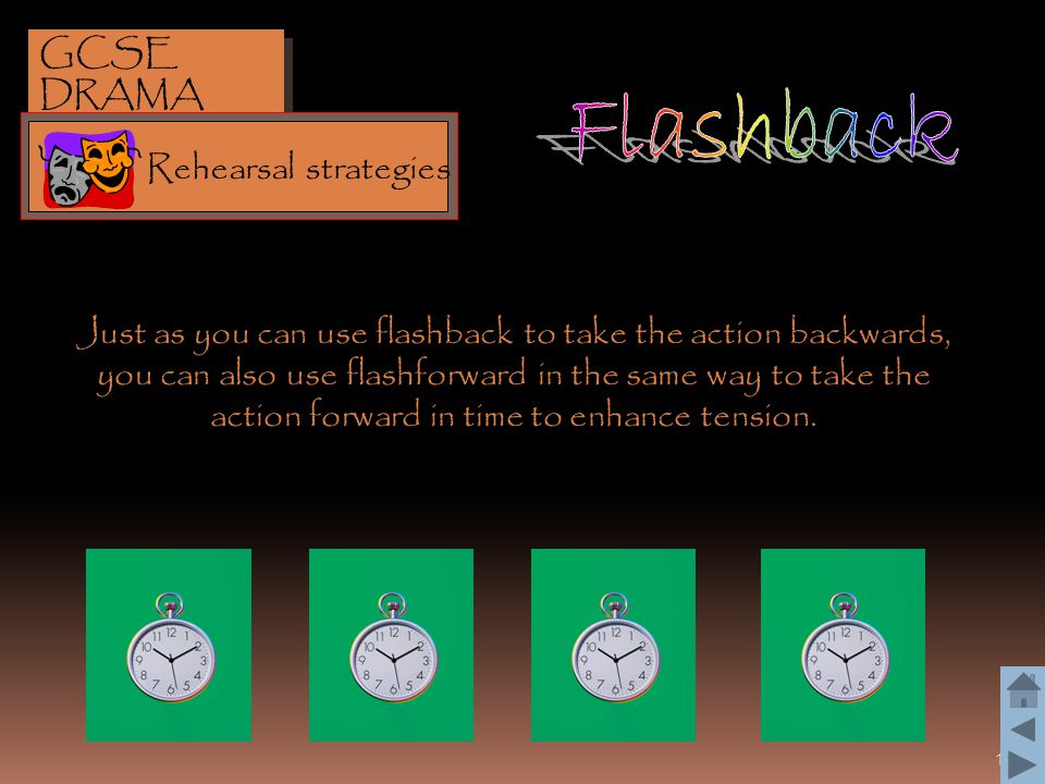 Flashback GCSE DRAMA Rehearsal strategies