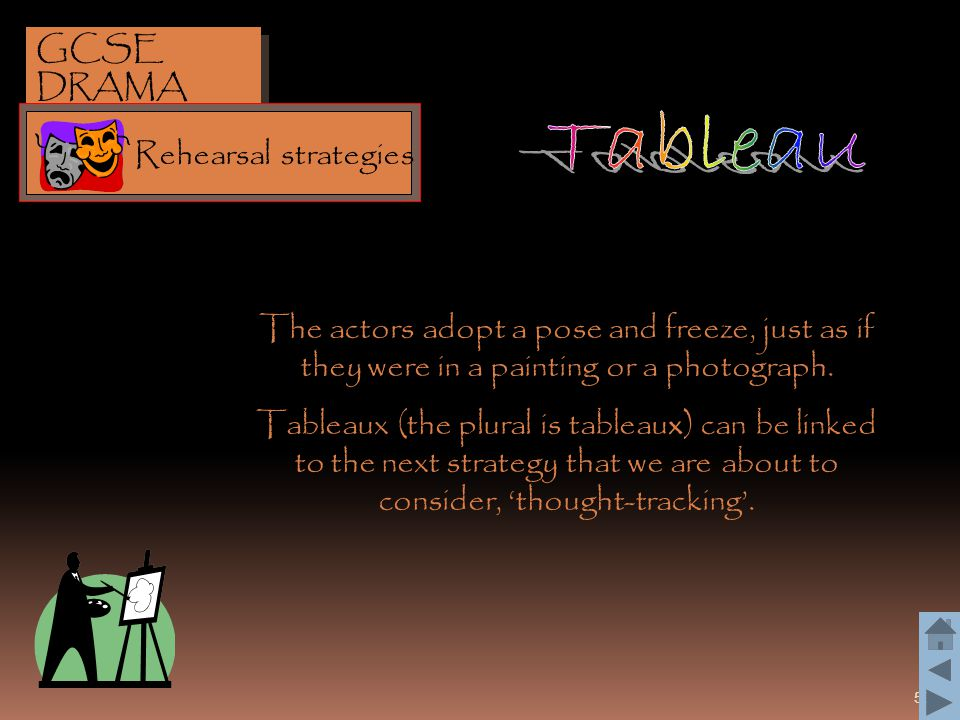 Tableau GCSE DRAMA Rehearsal strategies