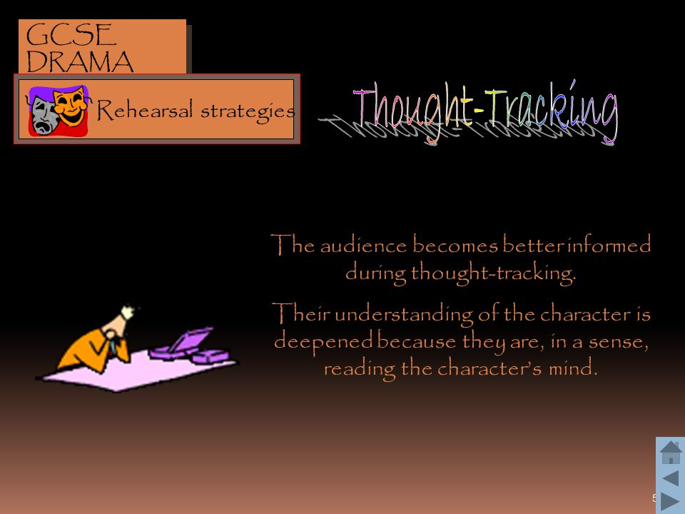 The audience becomes better informed during thought-tracking.