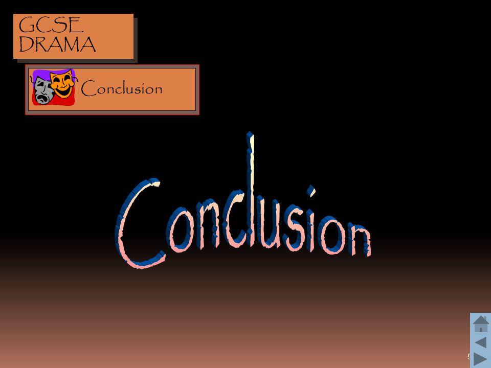 GCSE DRAMA Conclusion Conclusion