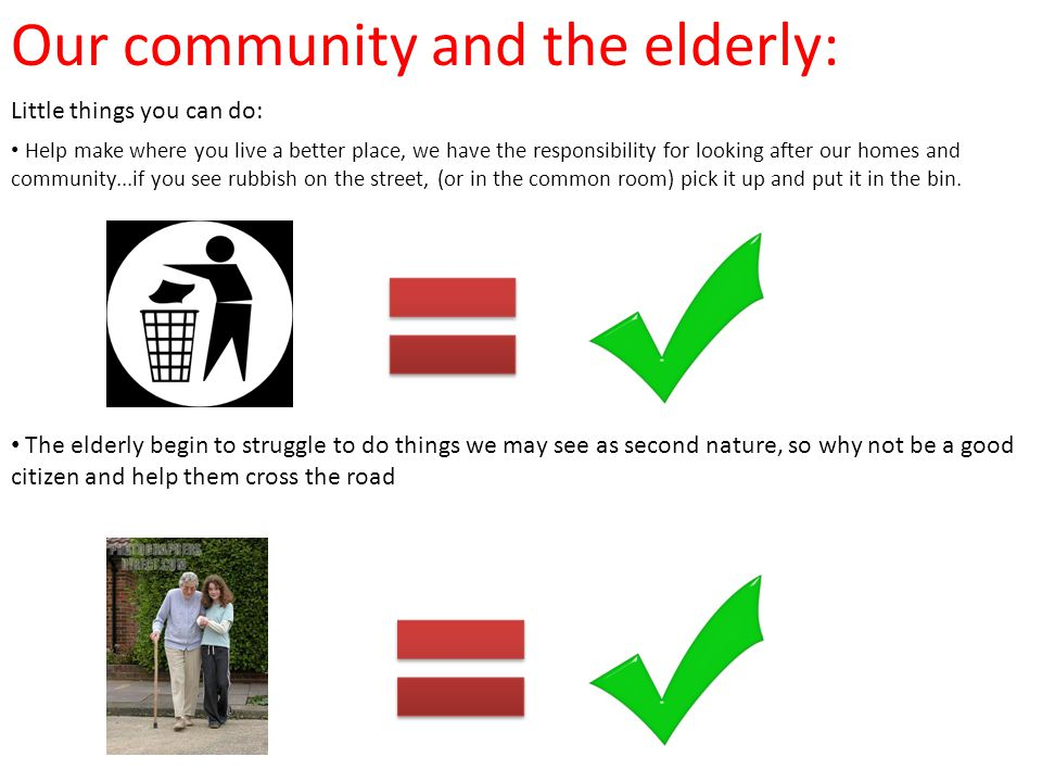 Our community and the elderly: