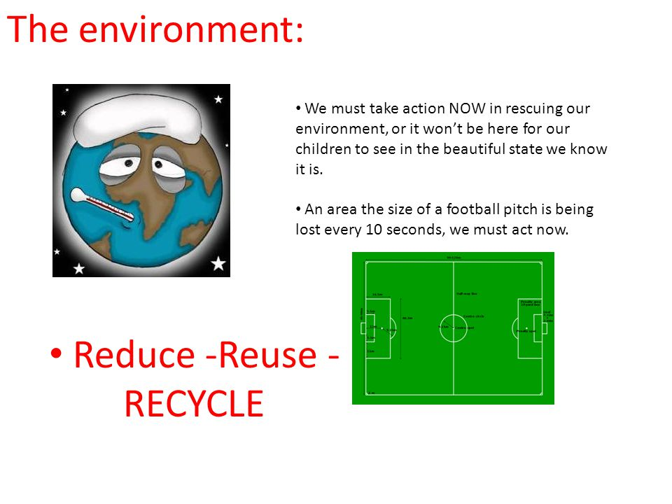 Reduce -Reuse - RECYCLE
