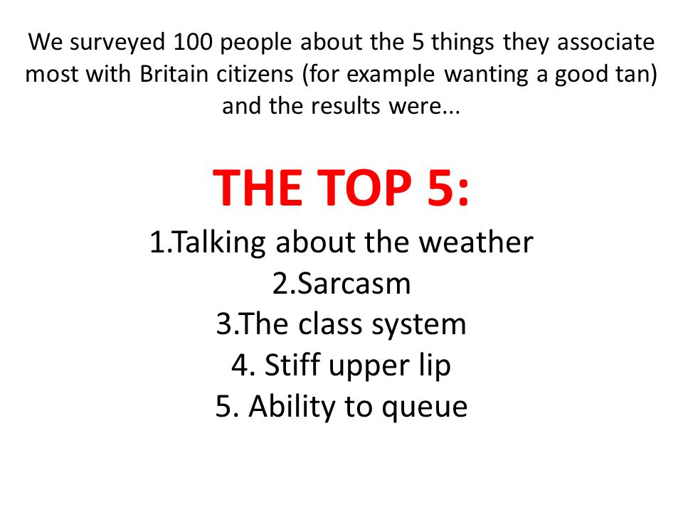 1.Talking about the weather