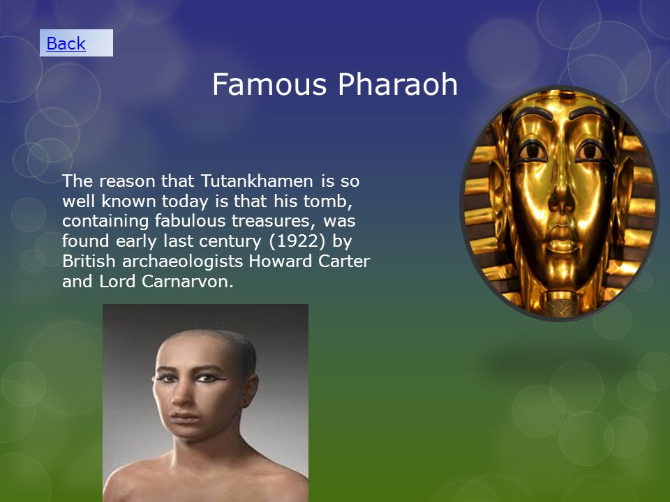Back Famous Pharaoh.
