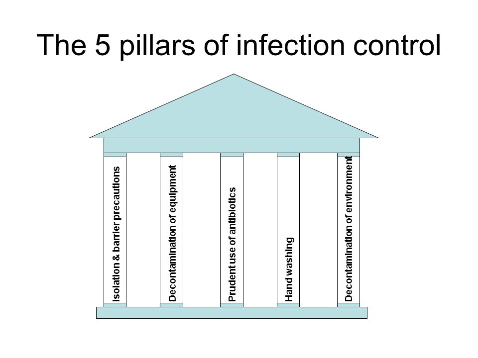 The 5 pillars of infection control