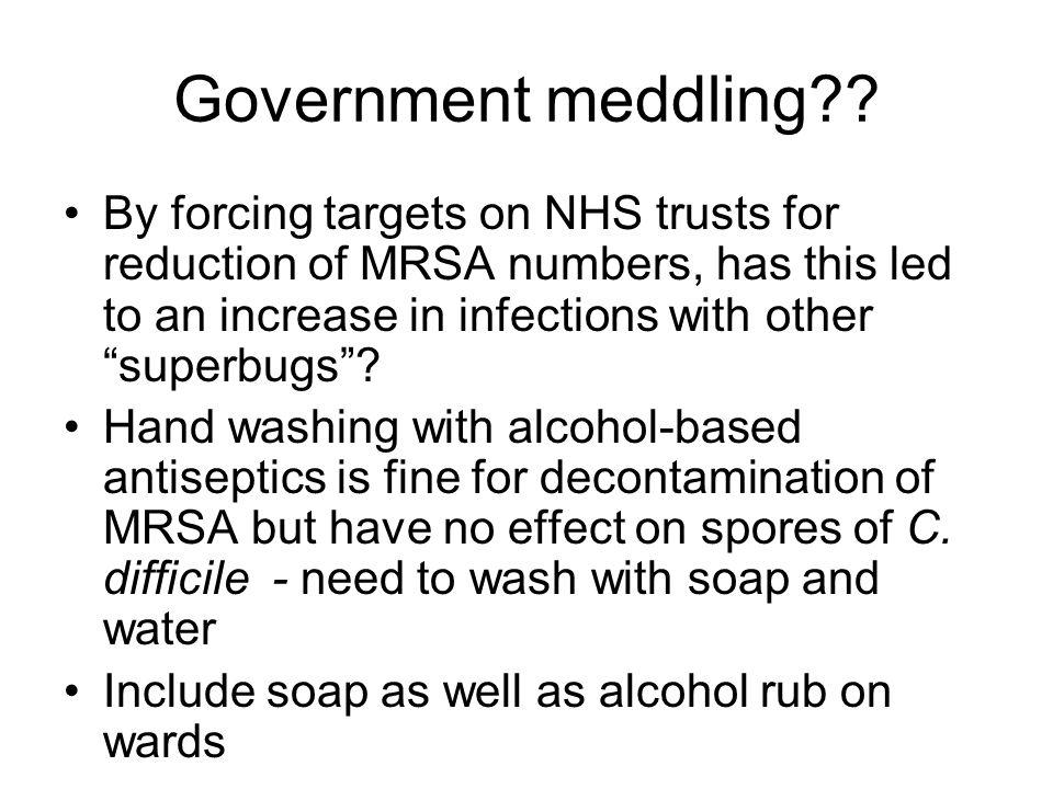 Government meddling