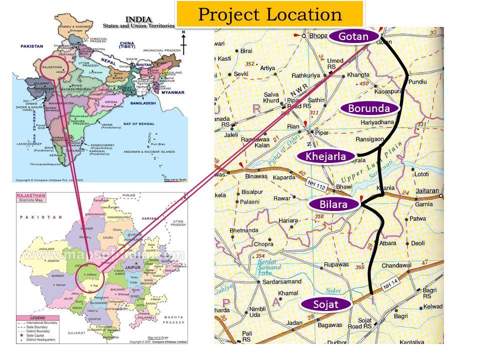 Project Location Gotan Borunda Khejarla Bilara Sojat