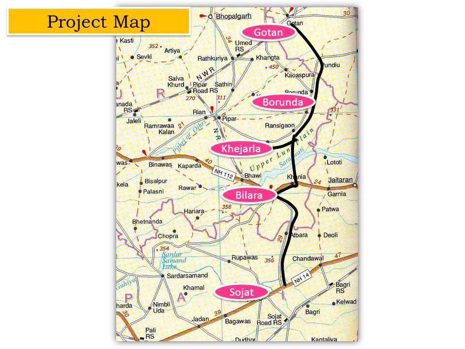 Project Map Gotan Borunda Khejarla Bilara Sojat