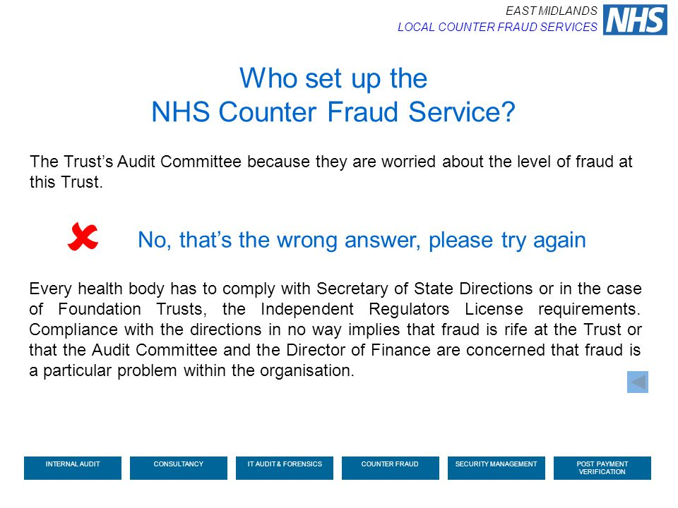  Who set up the NHS Counter Fraud Service