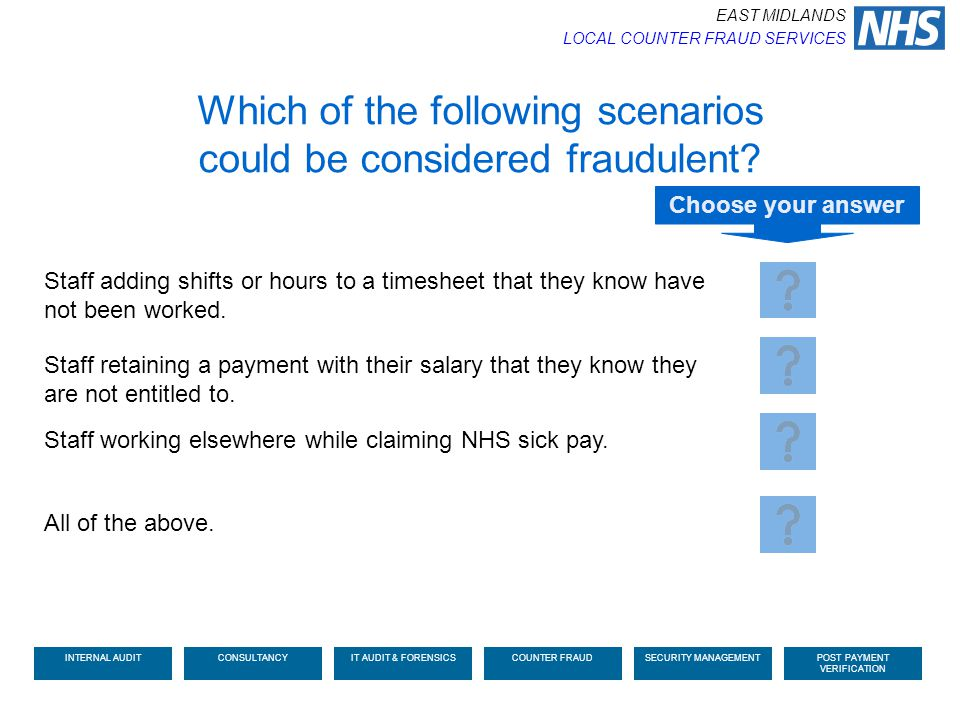 Which of the following scenarios could be considered fraudulent