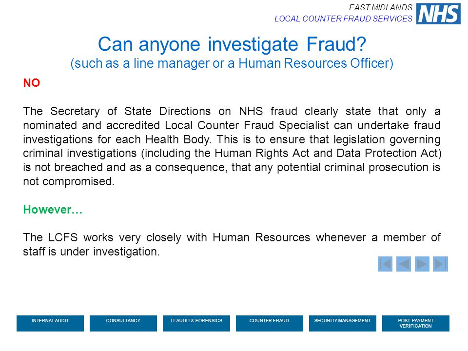 Can anyone investigate Fraud