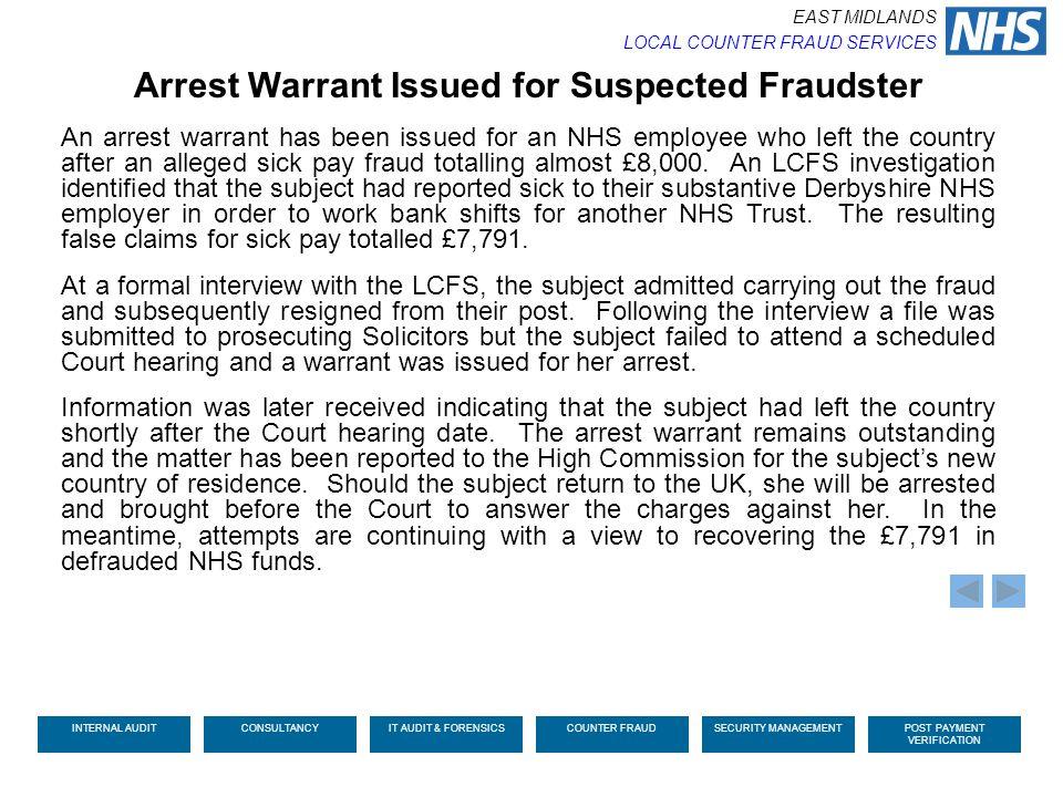 Arrest Warrant Issued for Suspected Fraudster