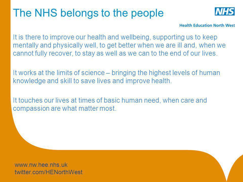 The NHS belongs to the people