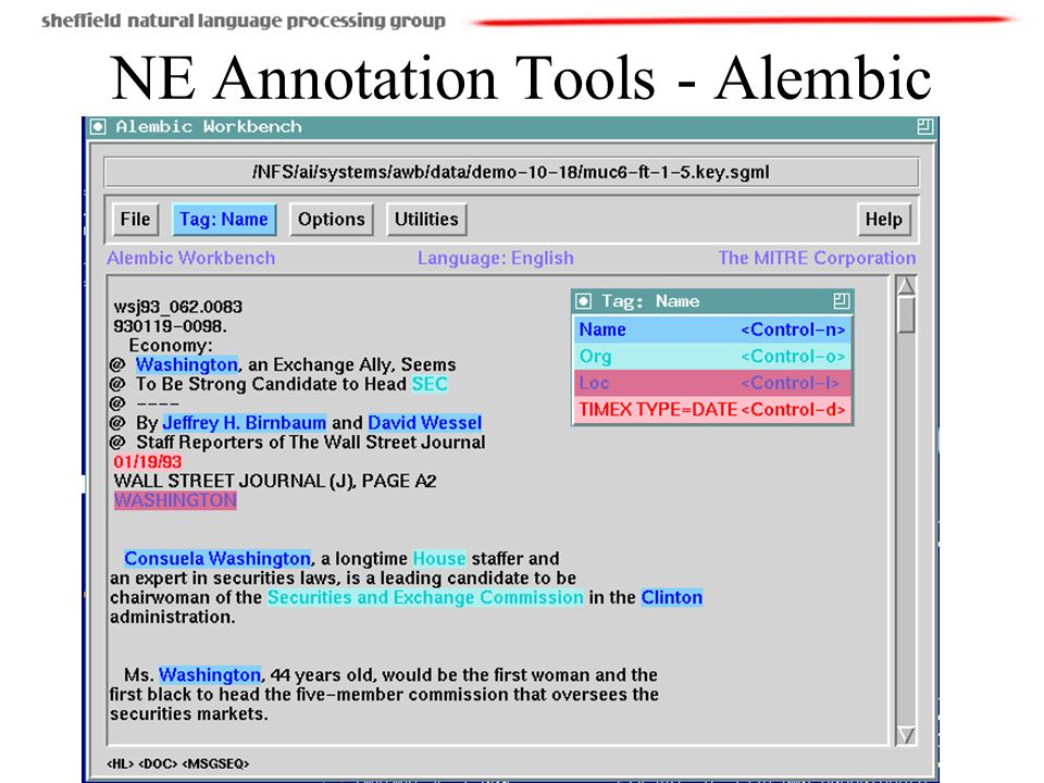 NE Annotation Tools - Alembic