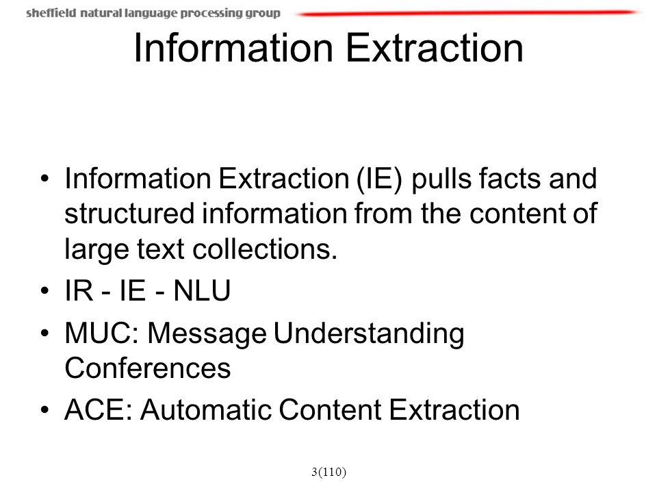 Information Extraction