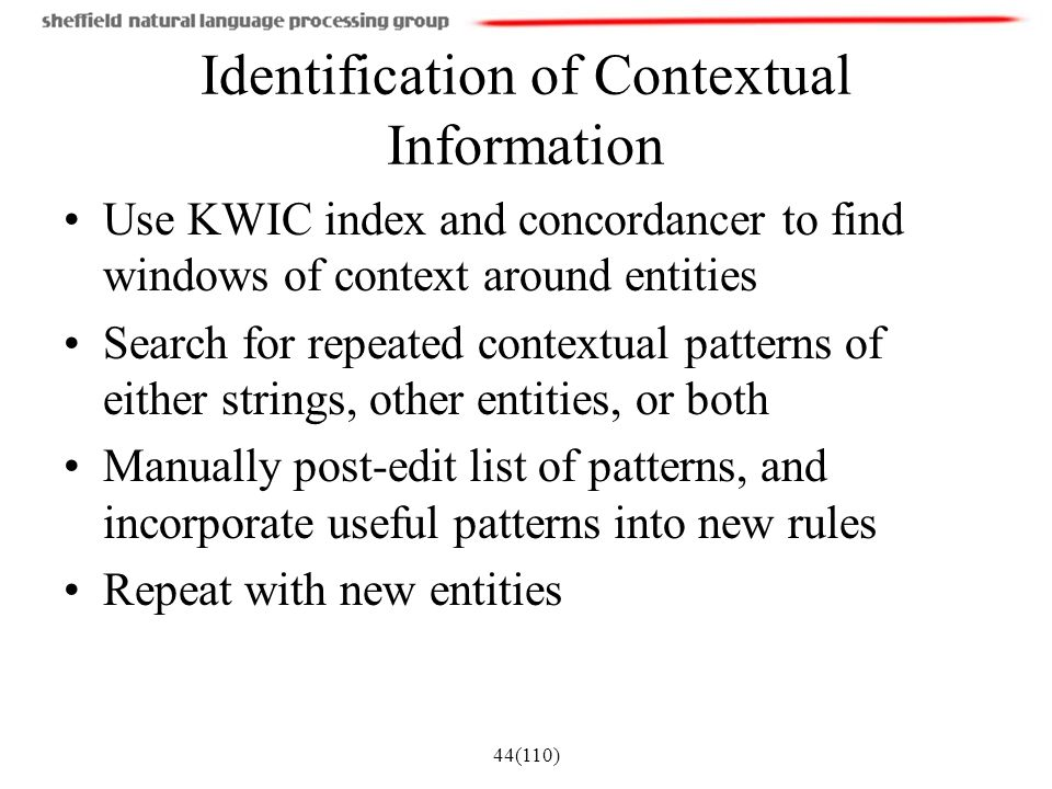 Identification of Contextual Information