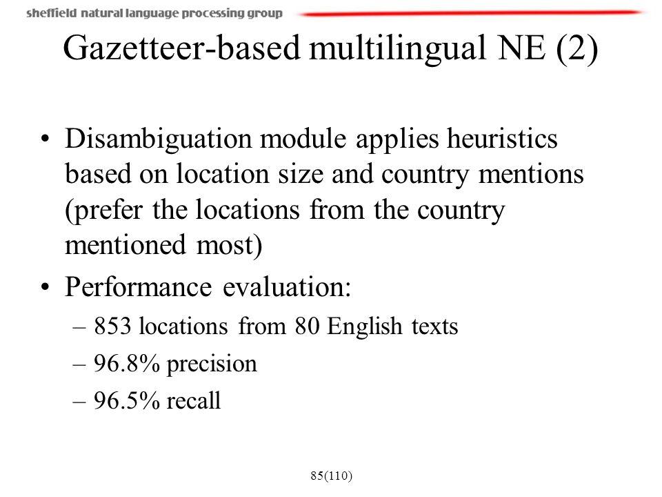 Gazetteer-based multilingual NE (2)