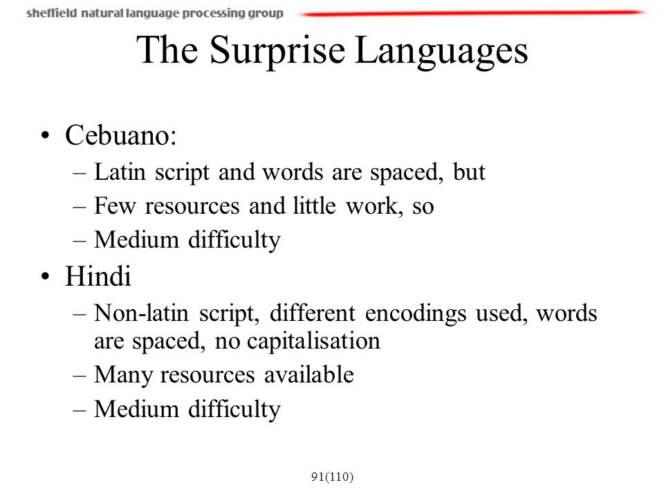 The Surprise Languages