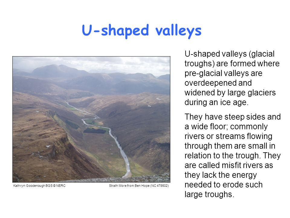 U-shaped valleys
