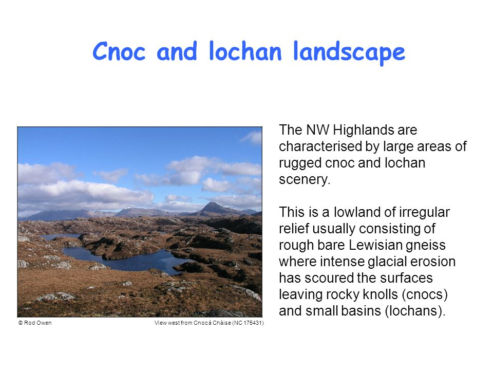 Cnoc and lochan landscape