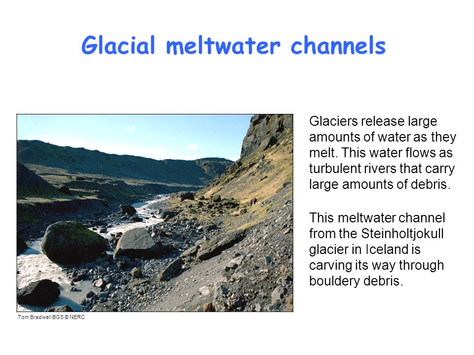 Glacial meltwater channels