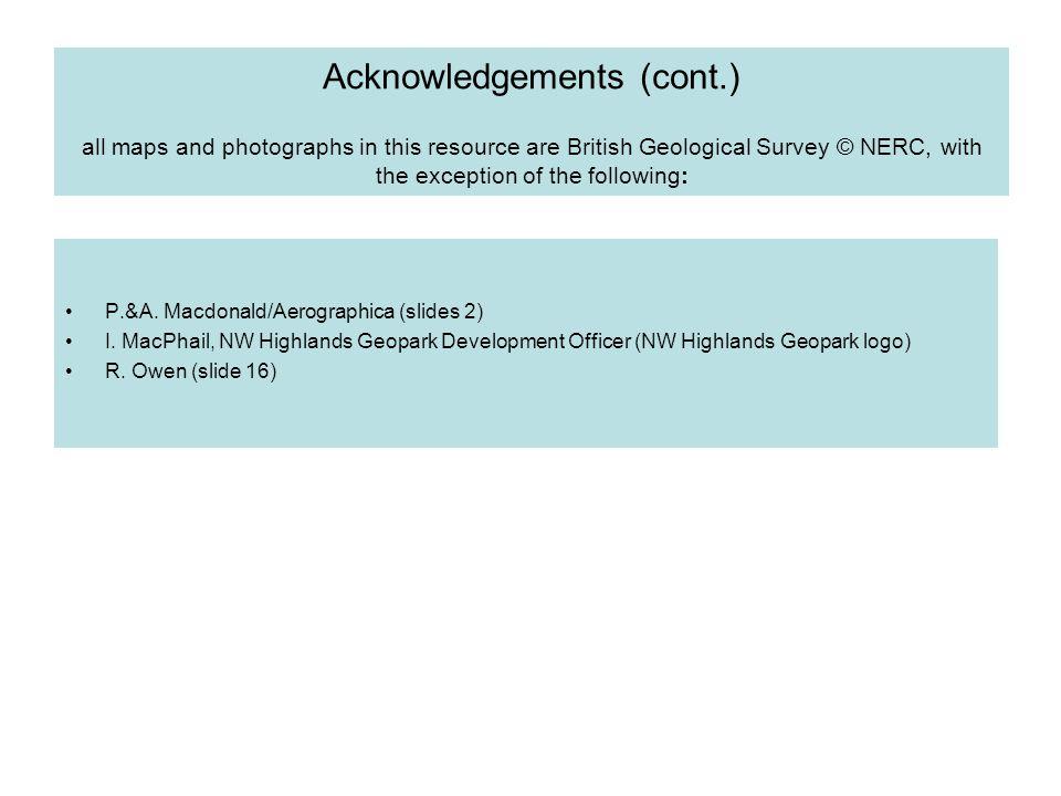 Acknowledgements (cont