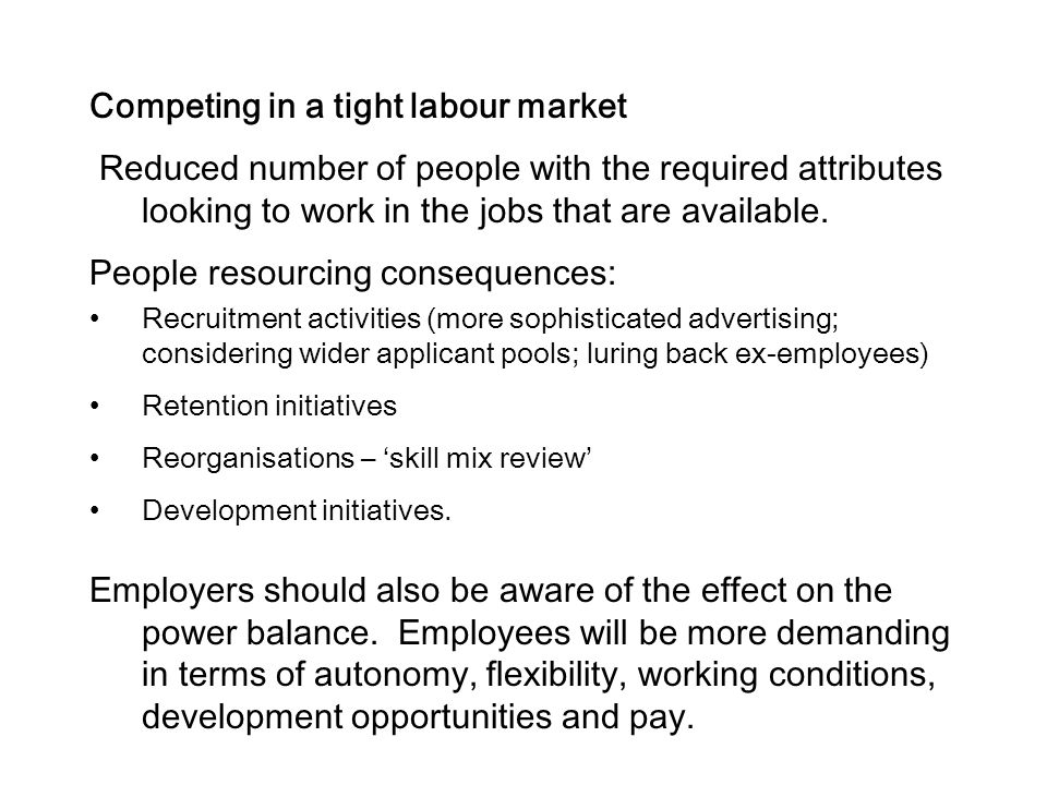 Competing in a tight labour market