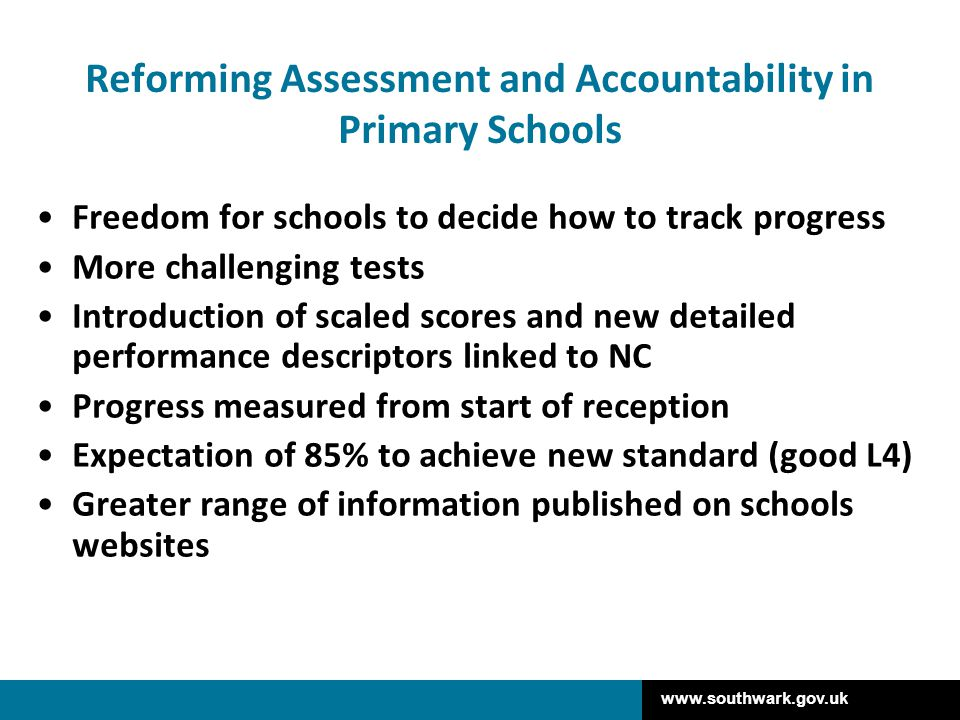 Reforming Assessment and Accountability in Primary Schools