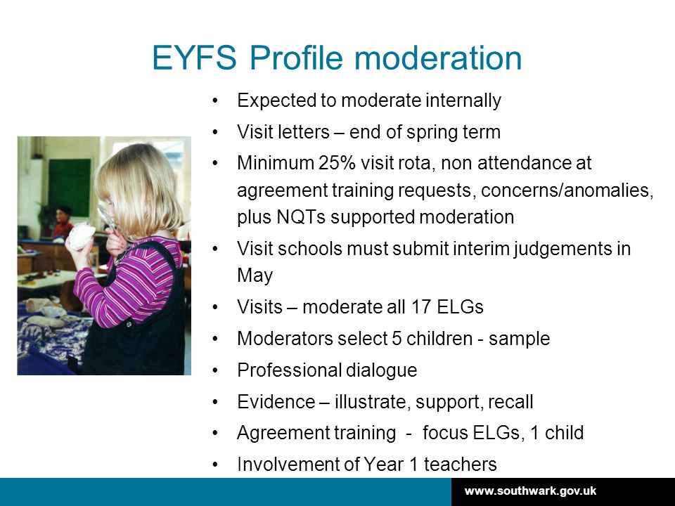 EYFS Profile moderation