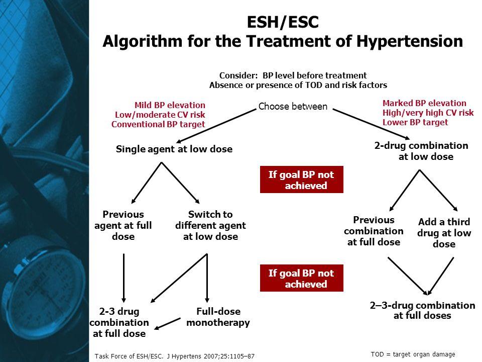 ESH/ESC Algorithm for the Treatment of Hypertension