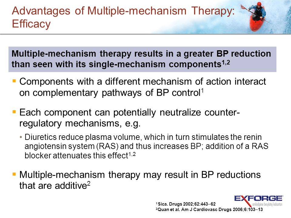 Advantages of Multiple-mechanism Therapy: Efficacy