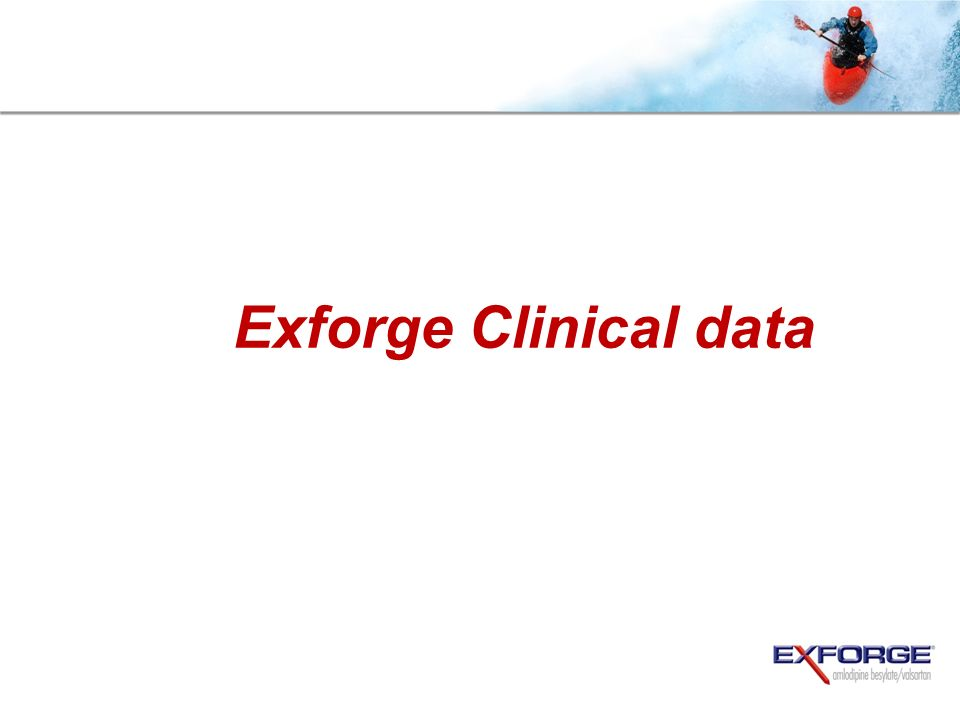 Exforge Clinical data