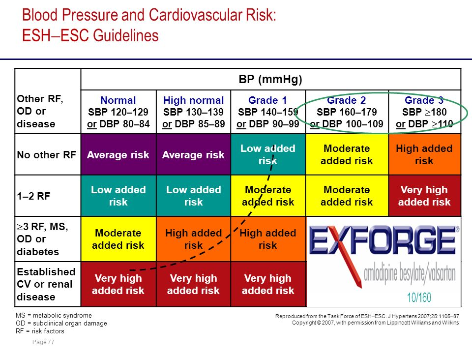 Blood Pressure and Cardiovascular Risk: ESHESC Guidelines