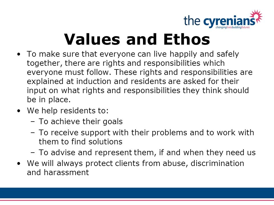 Values and Ethos