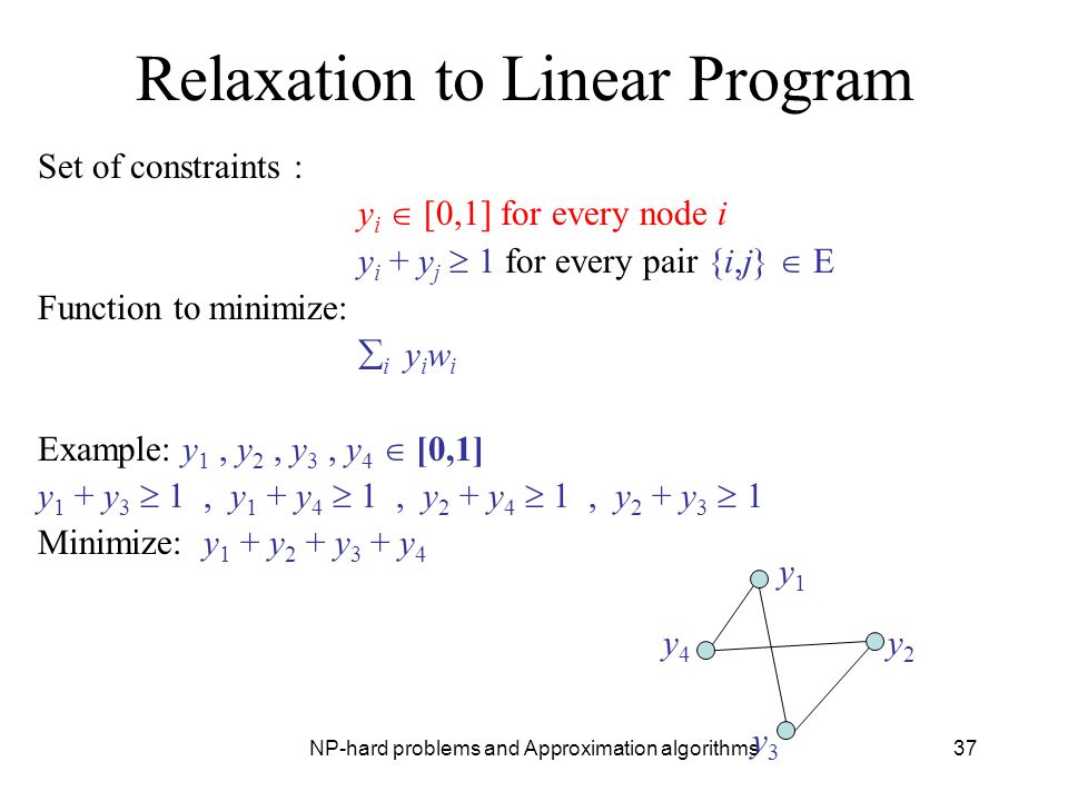 Relaxation to Linear Program