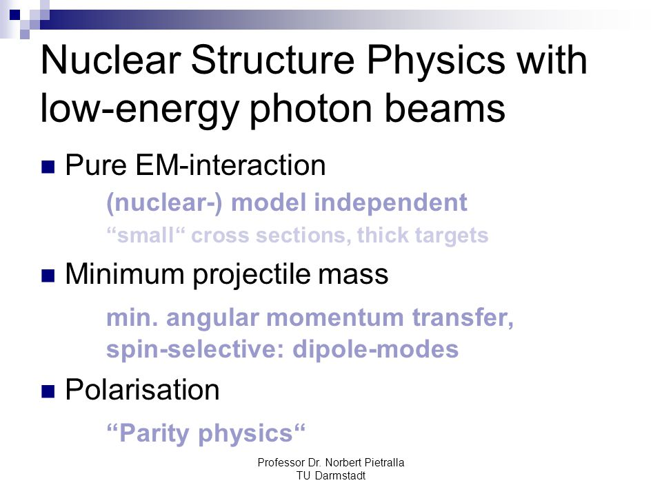 Nuclear Structure Physics with low-energy photon beams