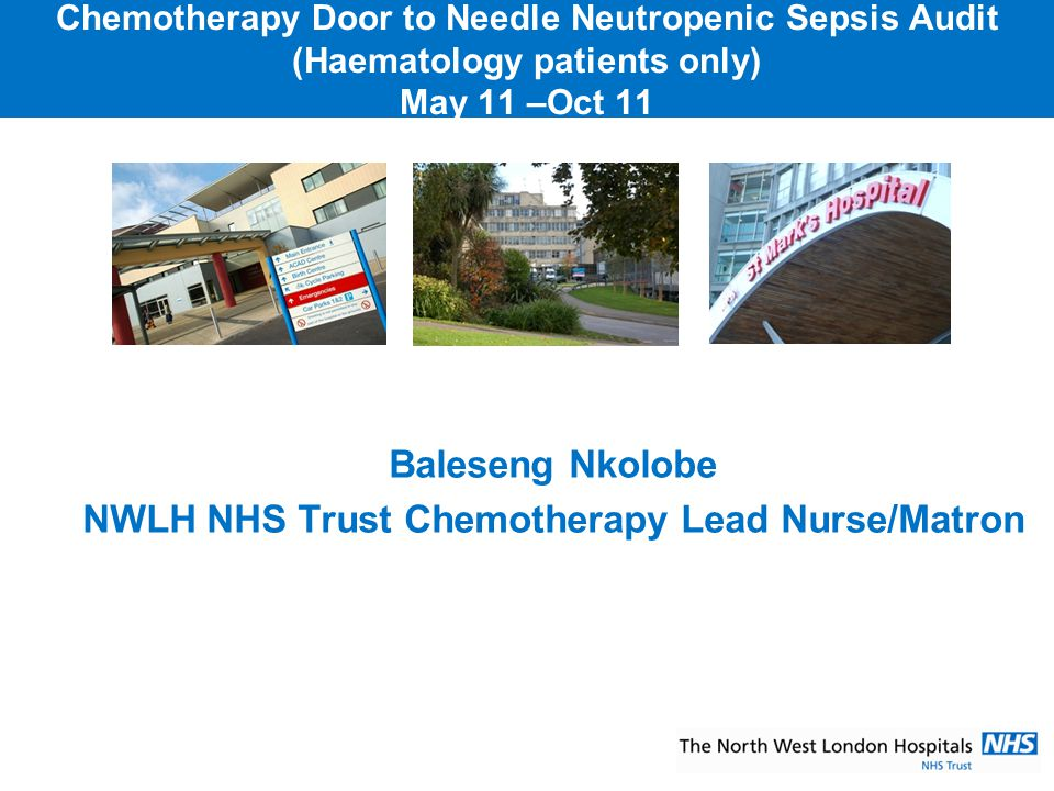 NWLH NHS Trust Chemotherapy Lead Nurse/Matron