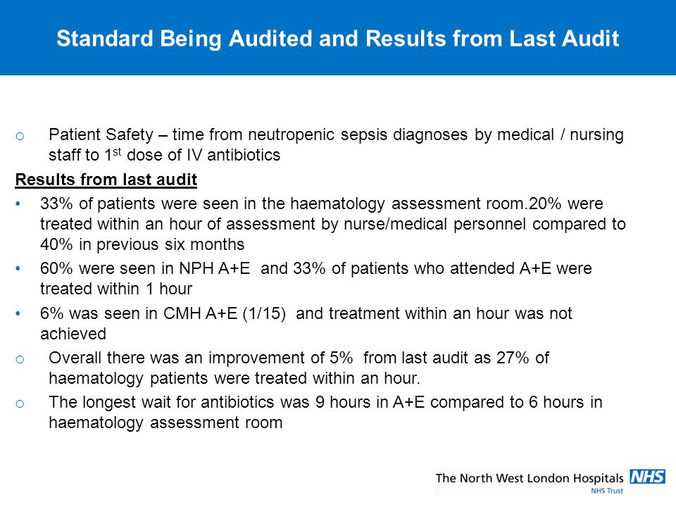 Standard Being Audited and Results from Last Audit
