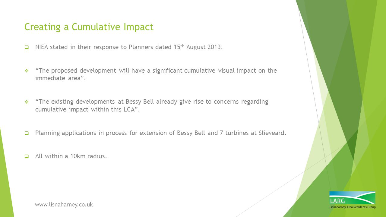Creating a Cumulative Impact