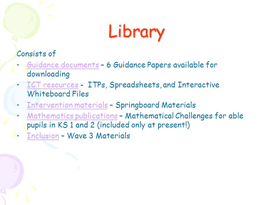 Library Consists of. Guidance documents – 6 Guidance Papers available for downloading.