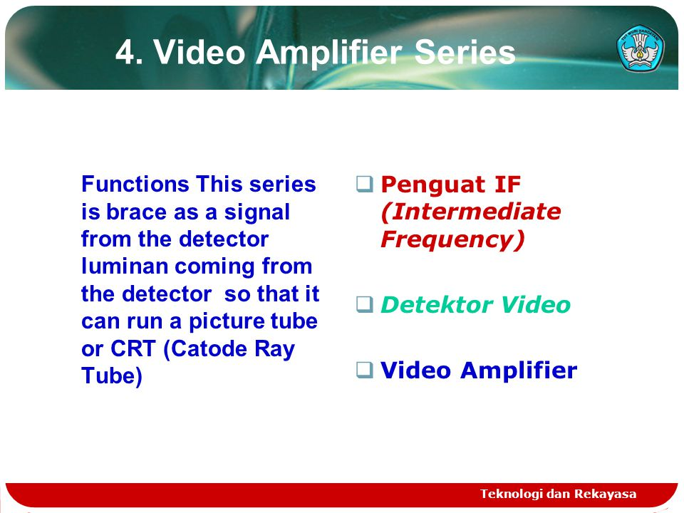 4. Video Amplifier Series