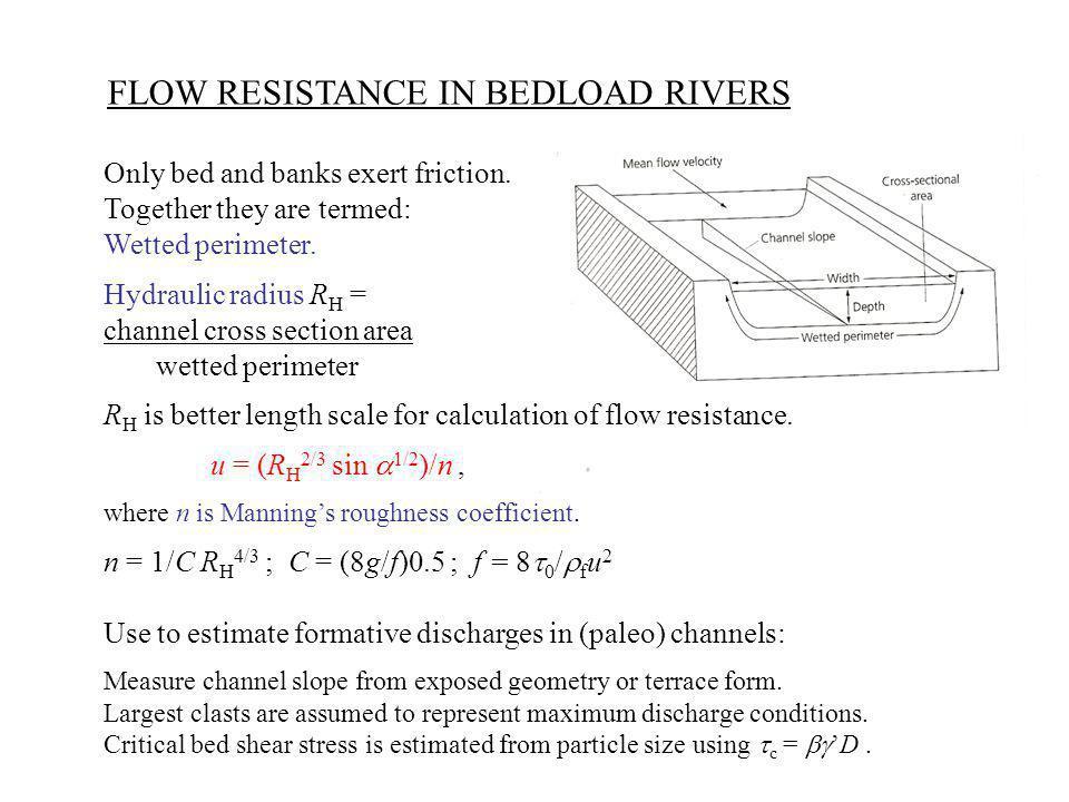 FLOW RESISTANCE IN BEDLOAD RIVERS