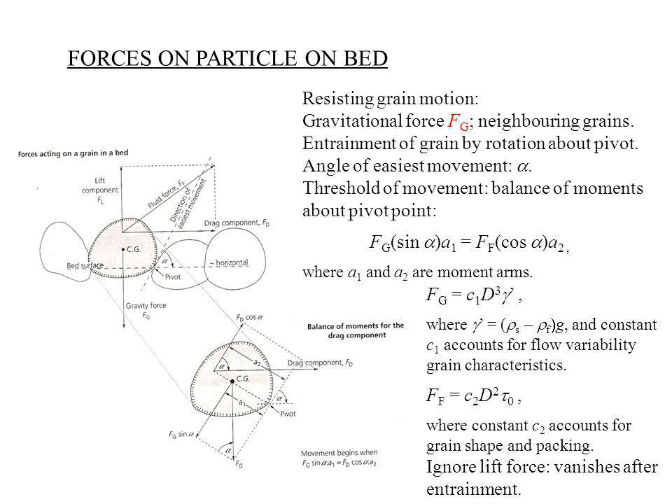 FORCES ON PARTICLE ON BED