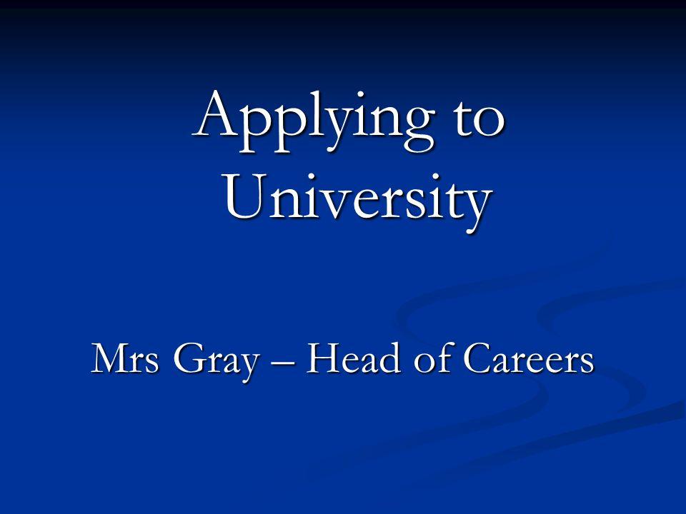 Applying to University
