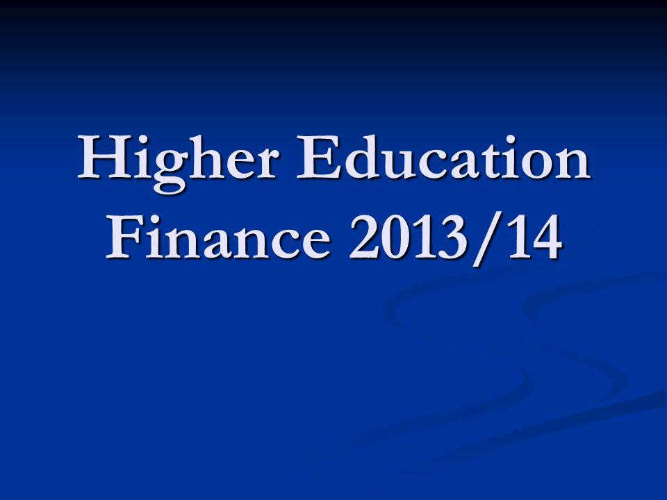 Higher Education Finance 2013/14