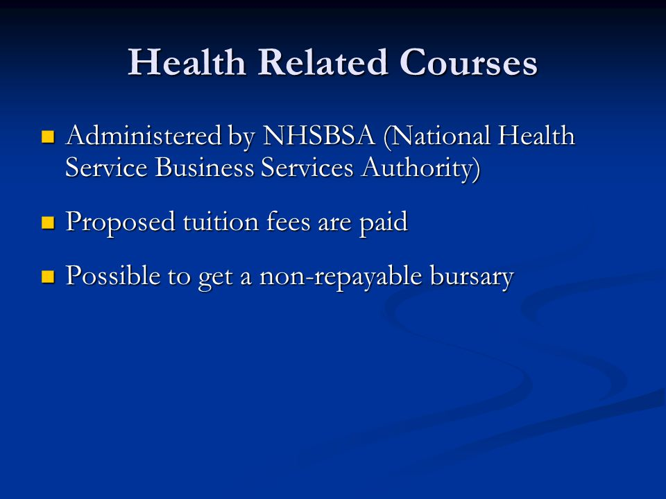 Health Related Courses