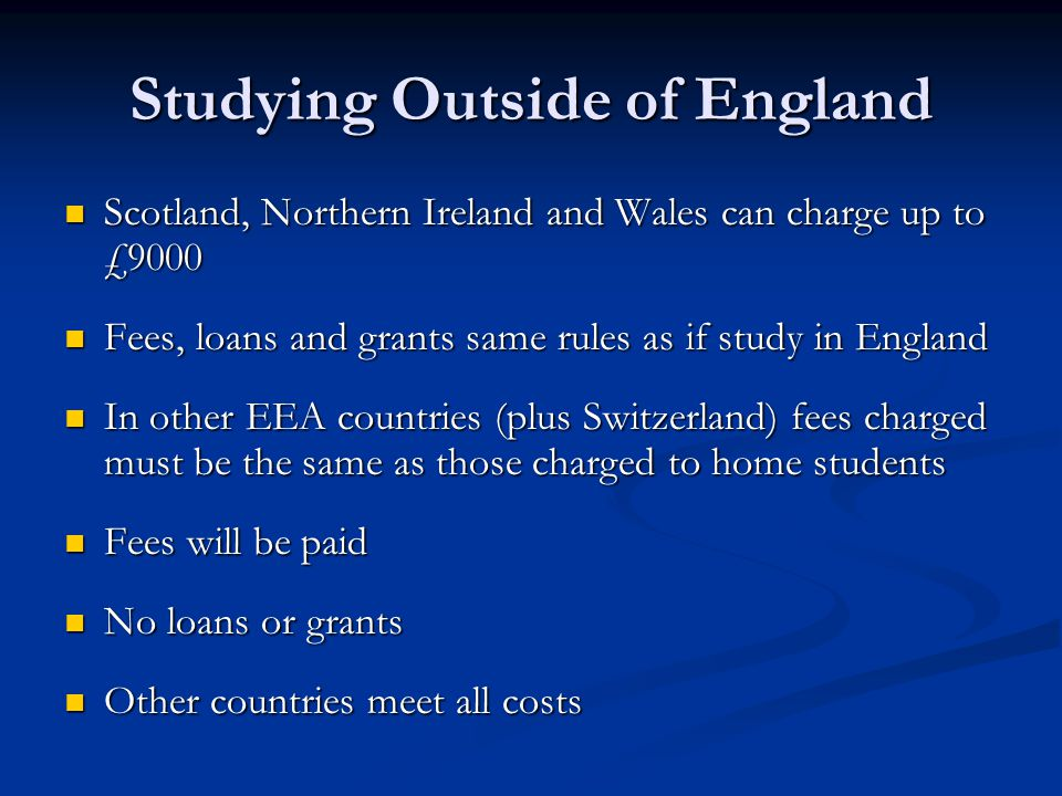 Studying Outside of England