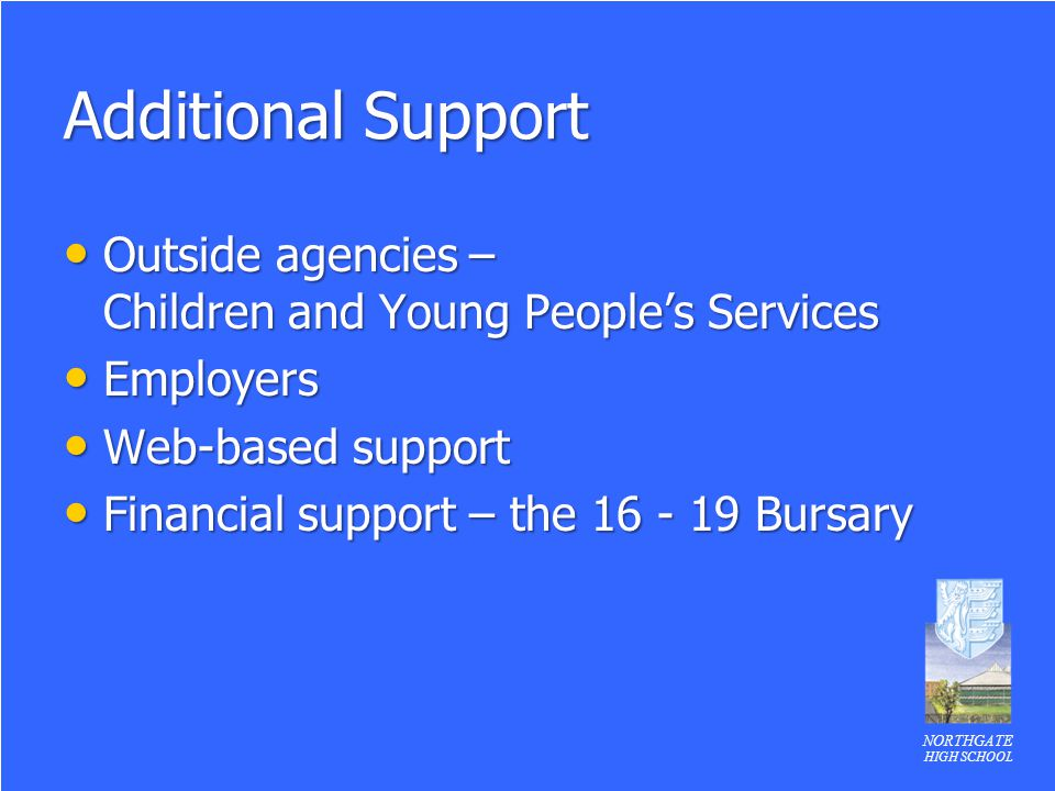 Additional Support Outside agencies – Children and Young People's Services. Employers. Web-based support.