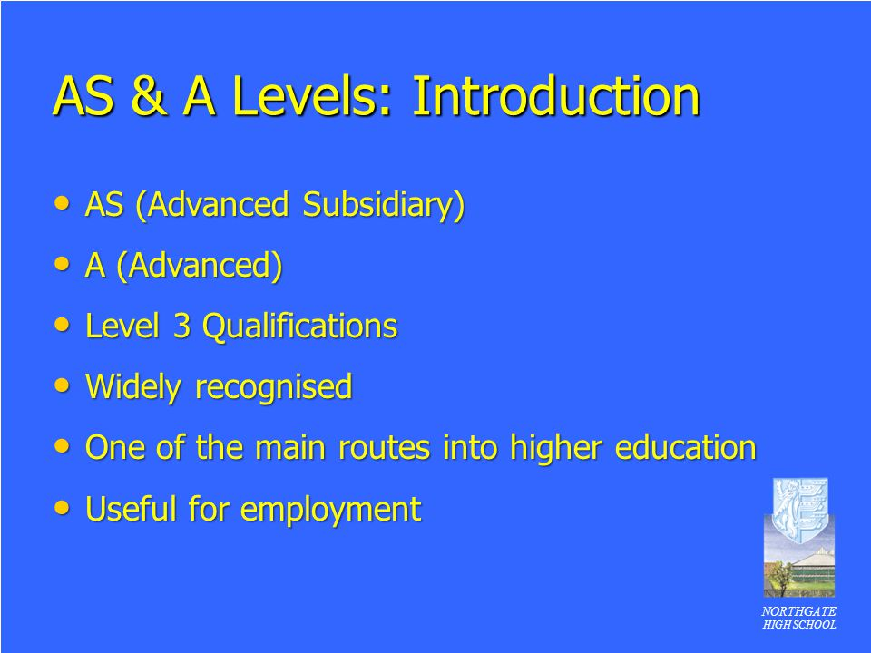 AS & A Levels: Introduction