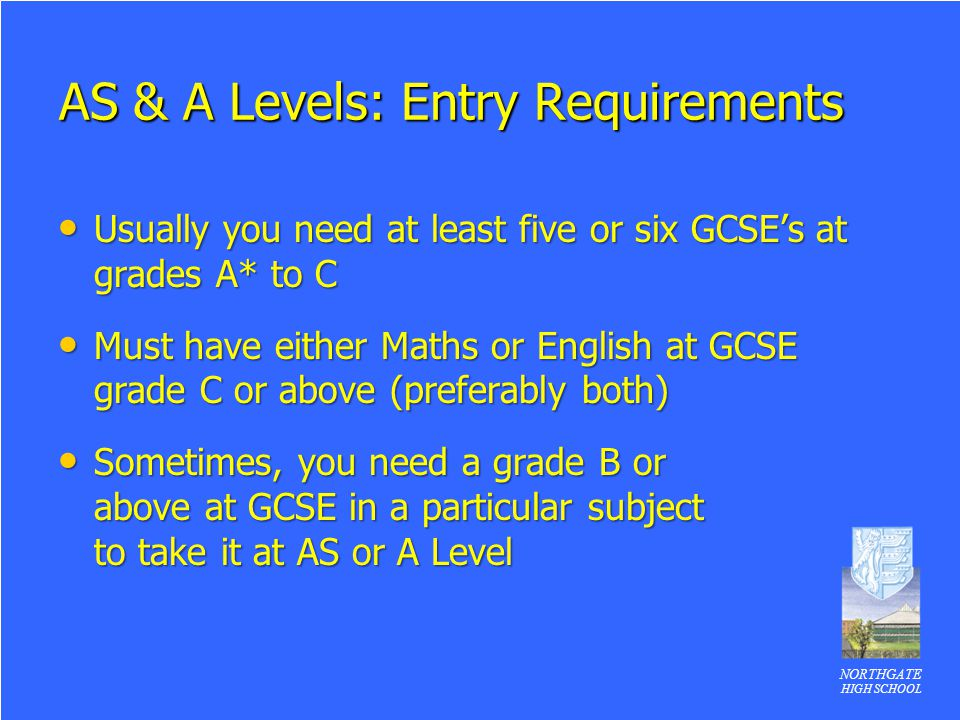 AS & A Levels: Entry Requirements